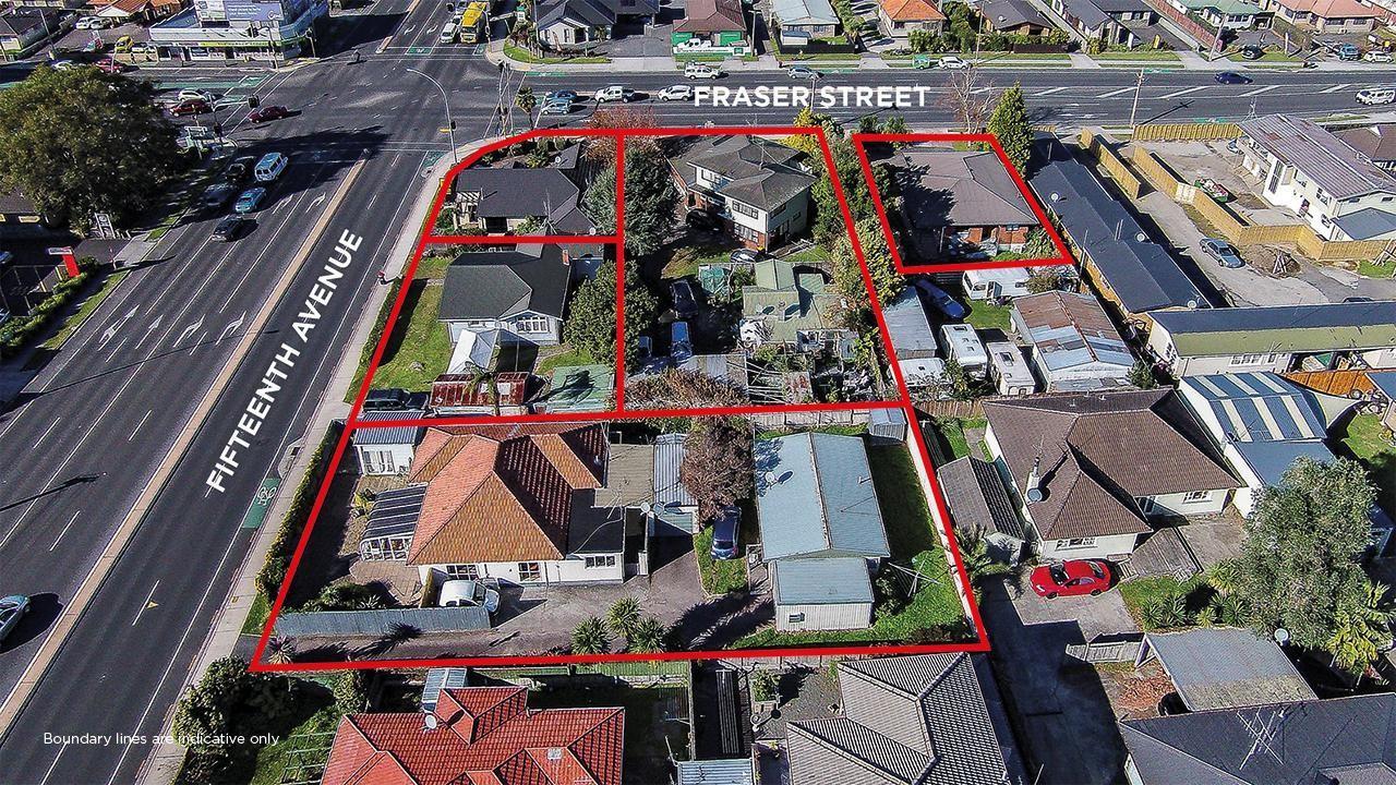 138, 140, 144 and 144A Fifteenth Avenue and 129 Fraser Street, Tauranga